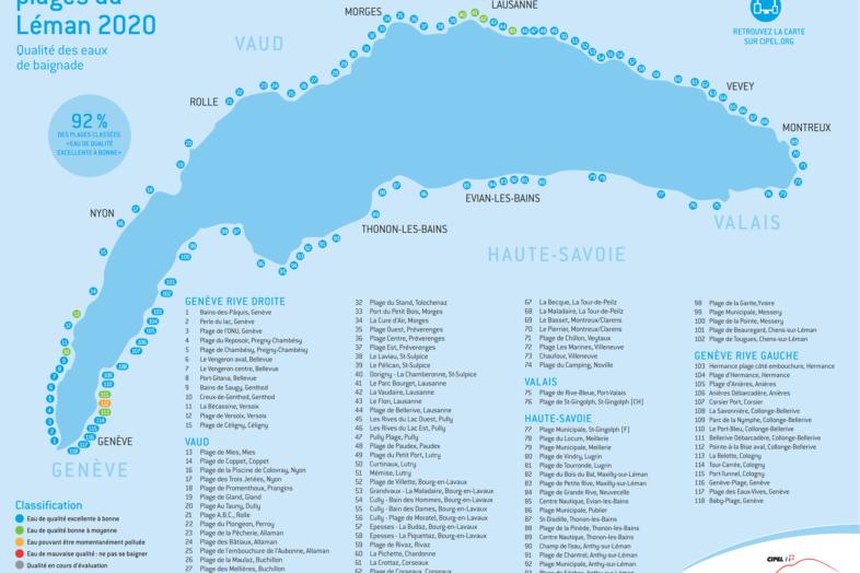 carte des plages