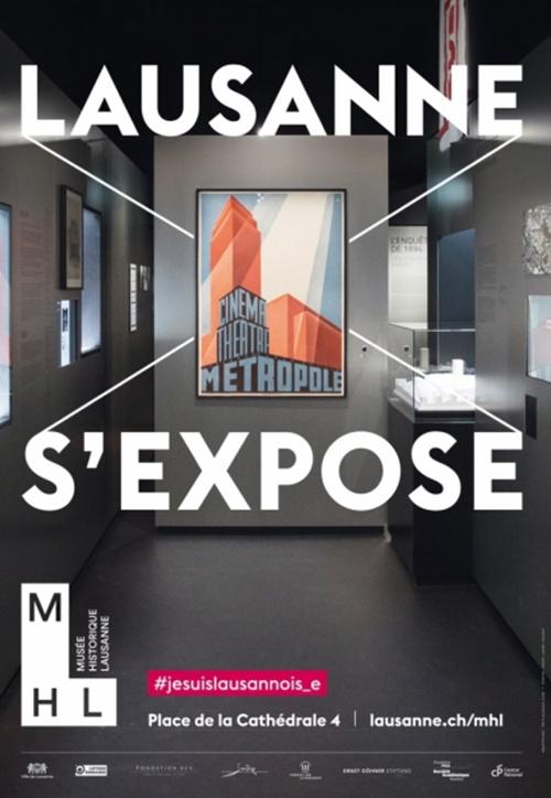Affiche Lausanne l'exposition